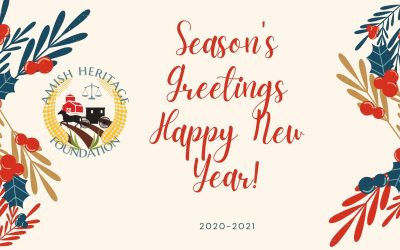 A Seasons Greetings & Happy New Year Video – From Torah Bontrager and The Amish Heritage Foundation